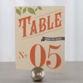 Les 12 numéros de table automne