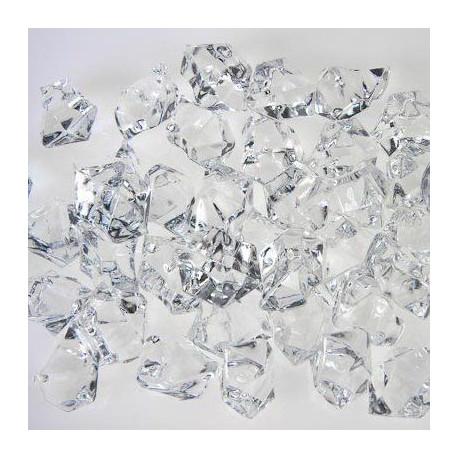 cristaux de glace acrylique pour vase
