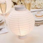 Les 2 lampions boule lumineux de table