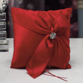 Le coussin d'alliances monroe rouge