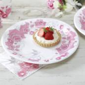 Les 8 assiettes rondes aux roses