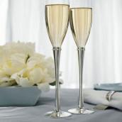 Les 2 flûtes à champagne alliance strass