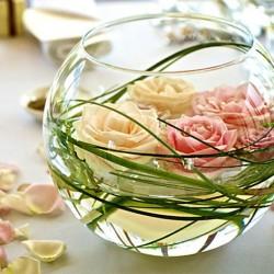 Vase mariage et contenu d corations de mariage - Vase en plastique pour centre de table ...