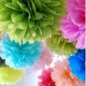 La fleur pompon en papier 20cm, 30cm, 40cm