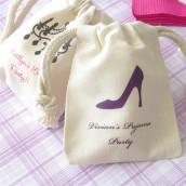Le pochon à dragées personnalisé en coton glamour