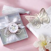 Le marque page papillon pompon blanc