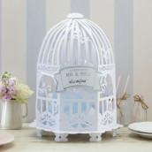 L'urne de mariage cage ronde en dentelle de papier