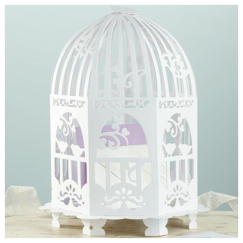 lurne de mariage cage en dentelle de papier - Urne Mariage Cage