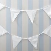 La guirlande de fanions coton blanc