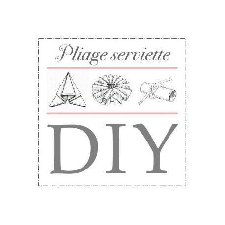 Pliage serviette cygne - Pliage serviette coquillage ...