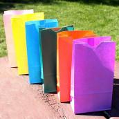 Les 25 sacs en papier à fond plat (13 coloris)