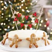 La mini bannière Noel pour gâteau