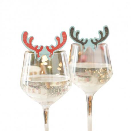 Marque place sur verre corne de renne for Place du verre a eau sur une table