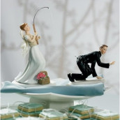 La figurine mariés à la pêche