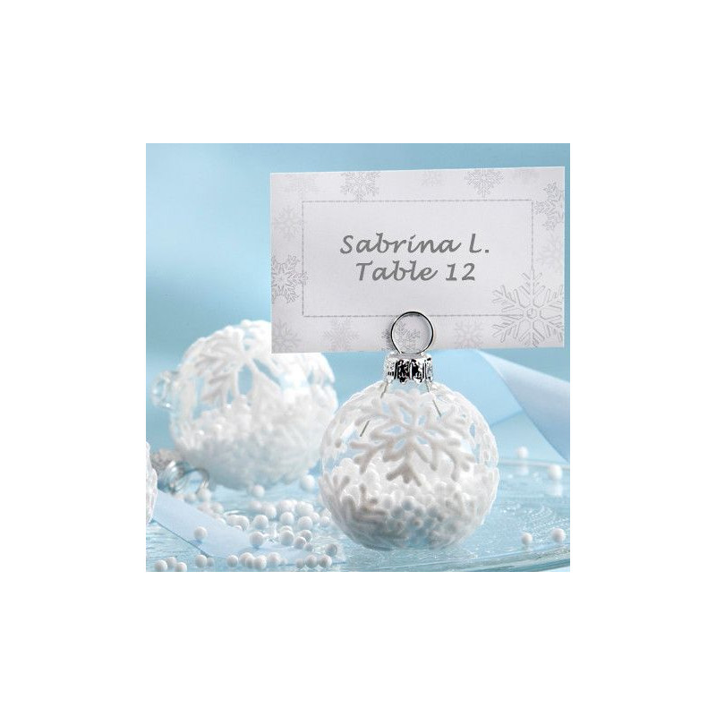 Marque place boule de noel for Decoration porte nom