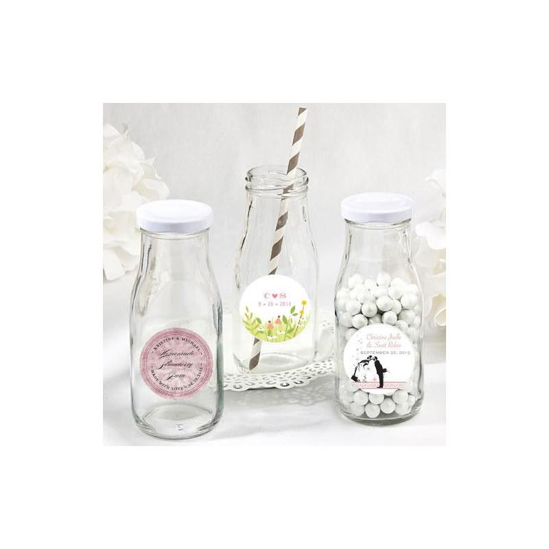 Bouteille de lait en verre avec couvercle - Saladier en verre avec couvercle ...