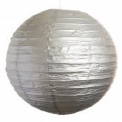 Le lampion en papier argent 30, 40 ou 50 cm