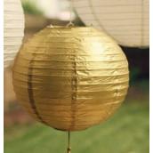 Le lampion en papier doré