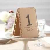 Les 12 numéros de table kraft