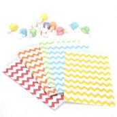 Les 25 sacs en papier chevron (9 coloris)