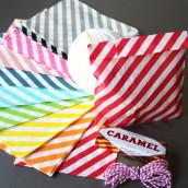 Les 25 sacs en papier diagonale (9 coloris)