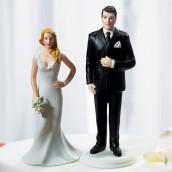La figurine marié géant et la mariée petite