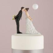 la figurine mariage couple au ballon - Figurine Mariage Mixte