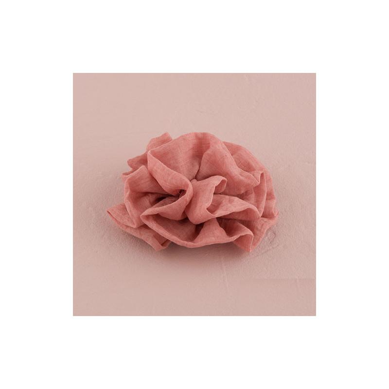 fleur en tissu rose gris ou moka. Black Bedroom Furniture Sets. Home Design Ideas