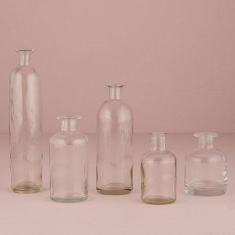 Mini bouteilles vases - Decoration de bouteille en verre ...