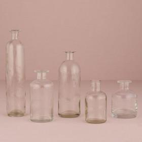L'assortiment de 6 bouteilles en verre