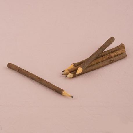 Les 5 crayons écorce en bois