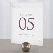 Les 12 numéros de table contemporain