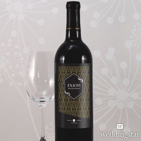 etiquette bouteille vin noir et or. Black Bedroom Furniture Sets. Home Design Ideas