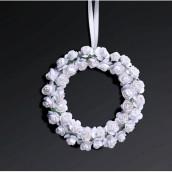 Les 2 couronnes de roses blanches 11cm