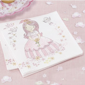 Les serviettes en papier princesse