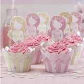 Les caissettes à cupcake princesse