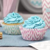 Les socles à cupcake chevron