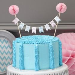 La mini bannière pour gâteau chevron