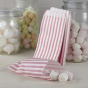 Les 25 sacs en papier à rayures roses