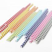 Les 25 pailles chevron (4 coloris)