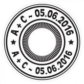 Les 6 stickers pour cd thé rose