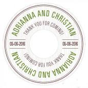 Les 6 stickers pour cd effet bois