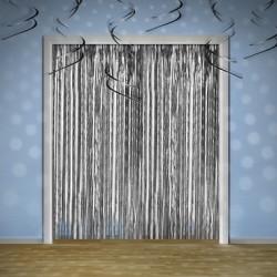 Le rideau de fils métallisés