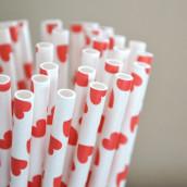 Les 25 pailles coeur rouges