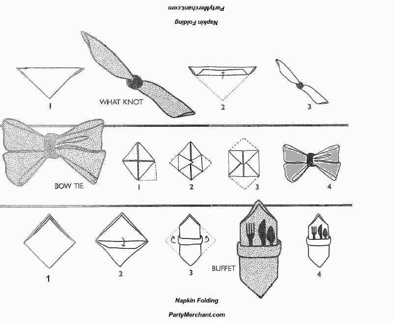 Pliage Serviette Papier Noeud Papillon