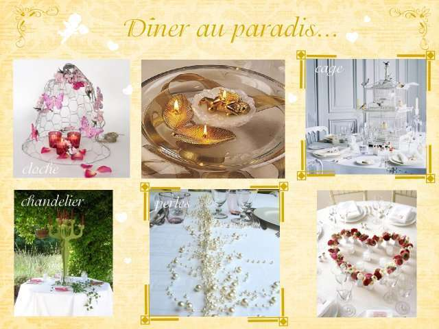 Mariage theme anges plein d 39 idees for Centre de table gourmandise