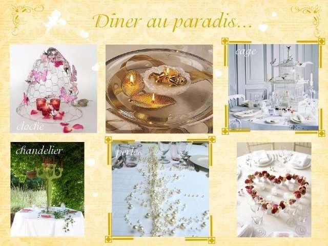 décoration mariage idées thème anges centre de table cloche en ...