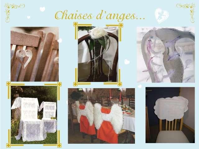 décoration mariage idées thème anges décoration de chaise coeur en ...