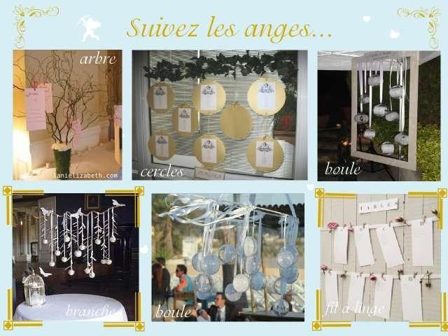 décoration mariage idées thème anges plan de table arbre à voeux ...