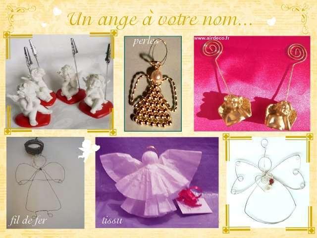 Mariage theme anges plein d 39 idees - Fabriquer des portes noms ...